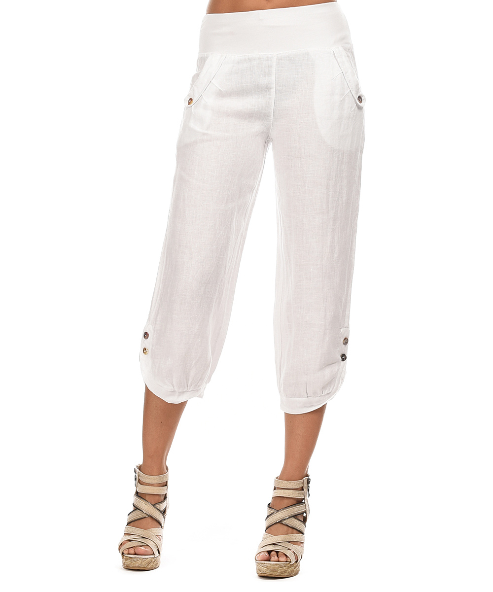 Popular White Relaxed Linen Pants  Women39s Resort Wear  Island Company More