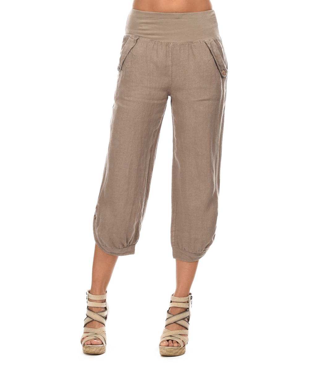 Beautiful Colorado Clothing Sport Striped Capri Pants For Women In Granita