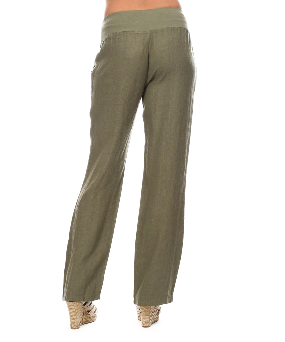Luxury Womens Linen Wide Leg Pants  Womens Bottoms  Abercrombiecom