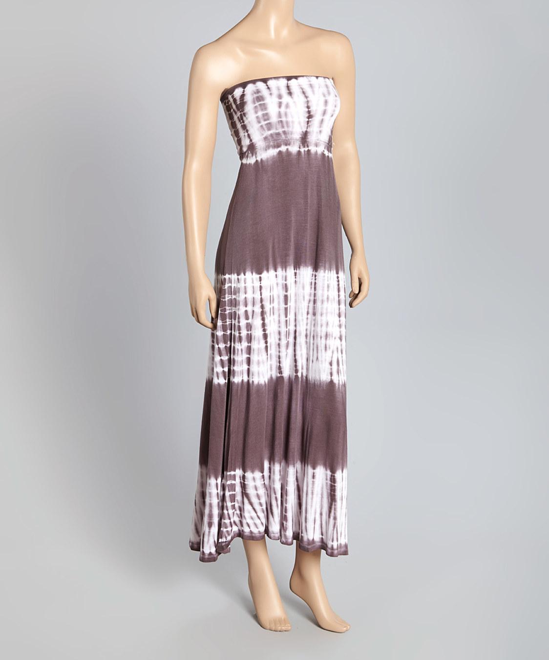 popular basics charcoal tie dye convertible maxi skirt