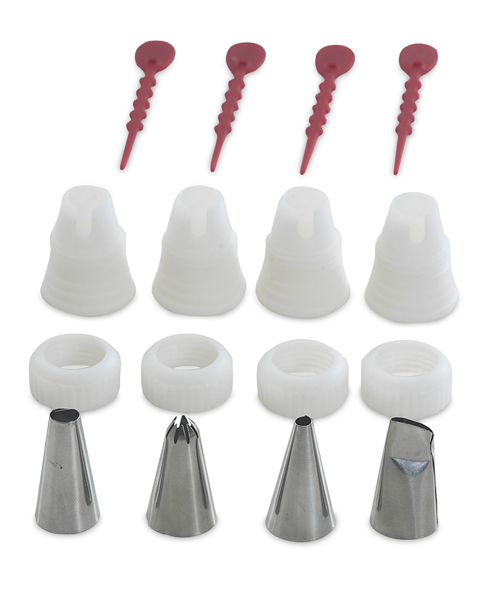 nordic ware pastry decorating tip set zulily