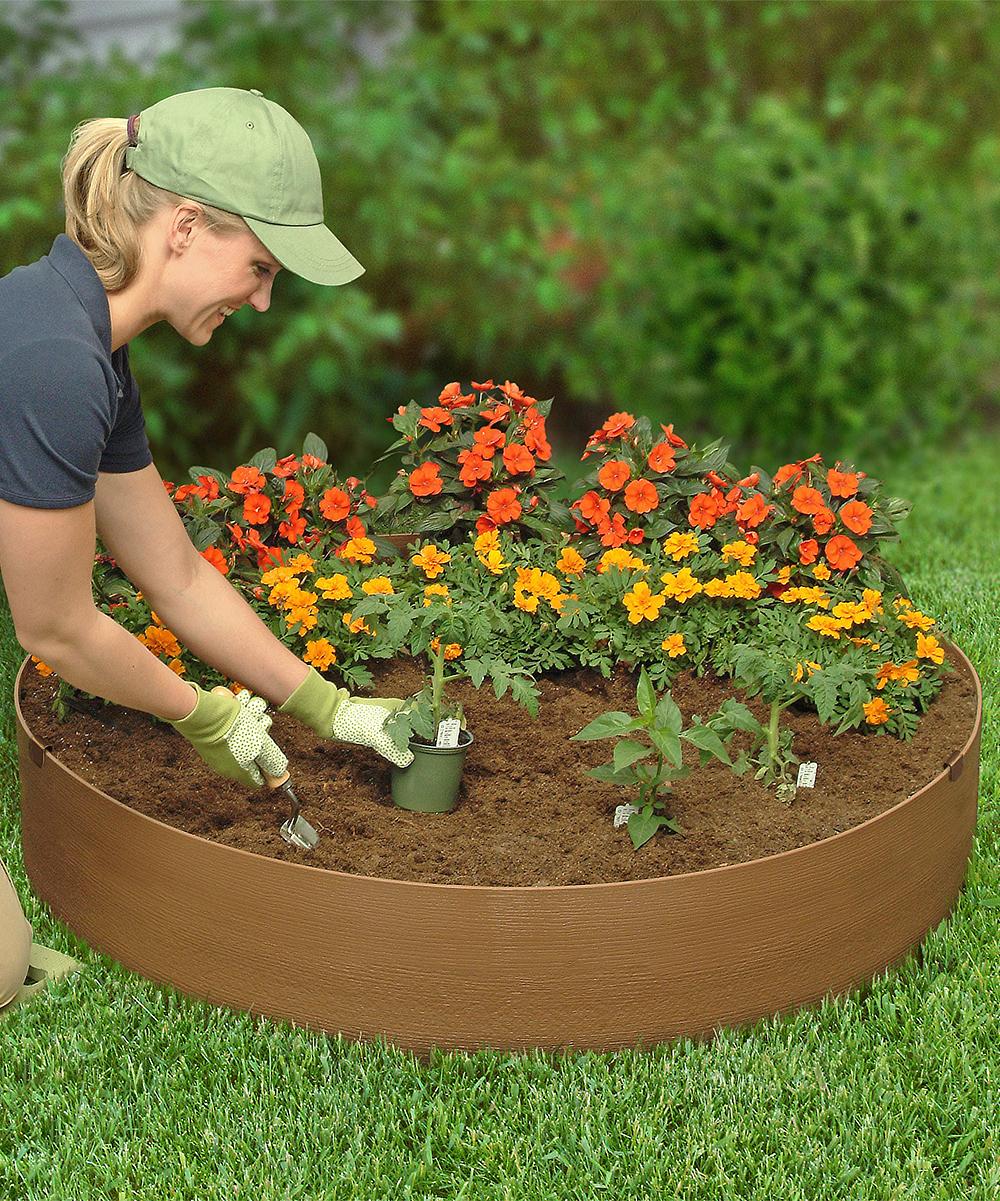 Round Flower Bed : Kidsgardening.org Round Raised Flower Bed Kit  zulily