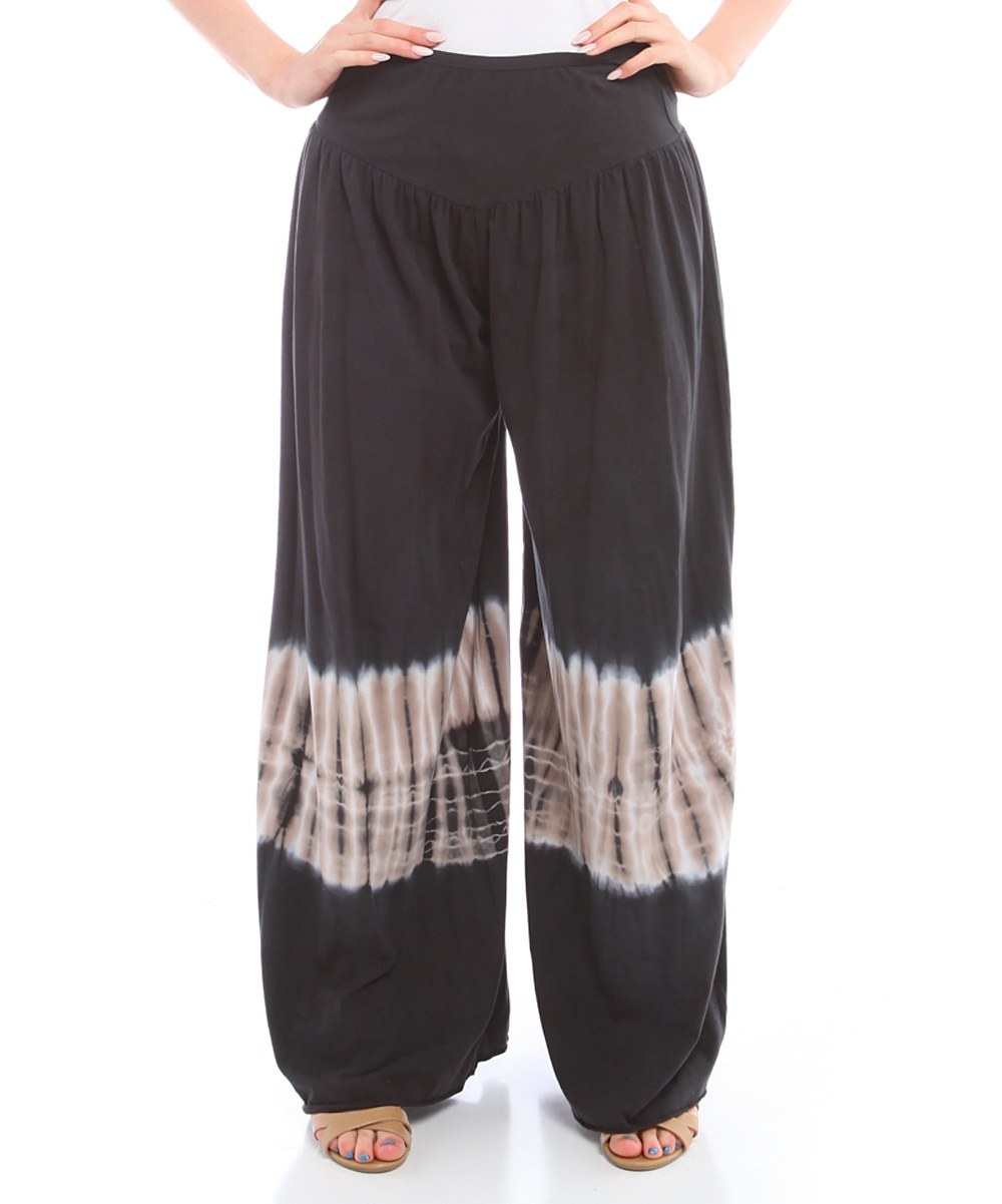 New PURO LINO Black TieFront Linen Ankle Pants  Women  Zulily