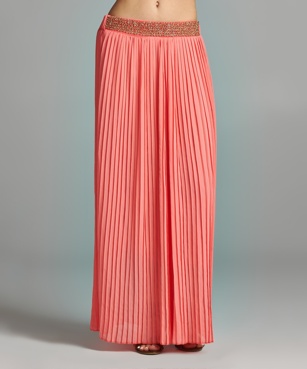velzera watermelon gold maxi skirt plus zulily