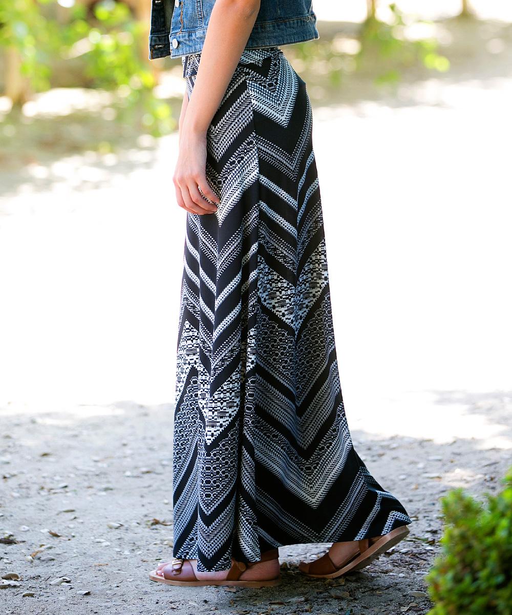 sawyer cove gray chevron maxi skirt zulily