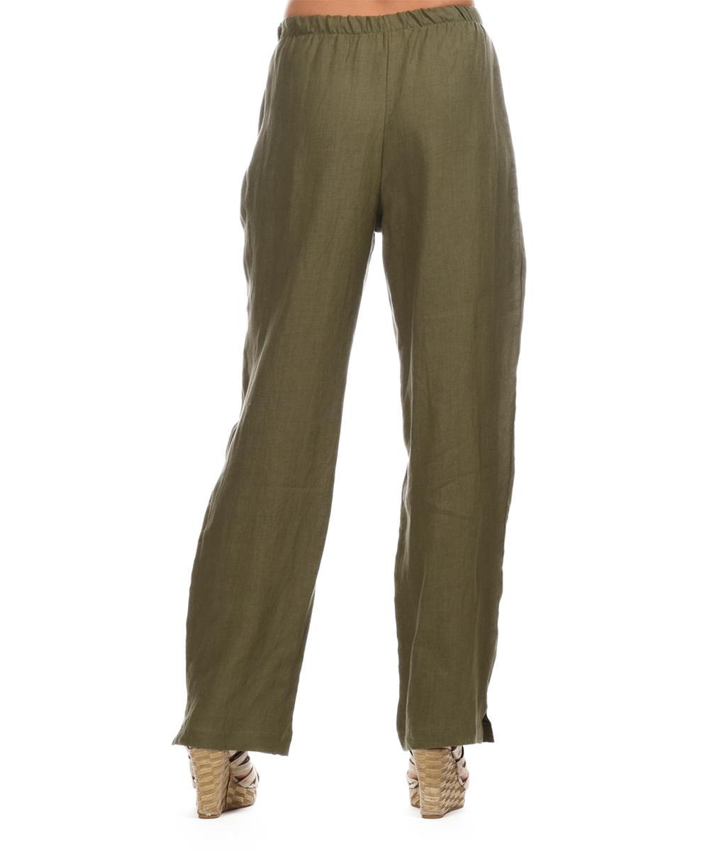 Popular Ella Moss Shimmer Linen Gaucho Pant In Khaki  Lyst