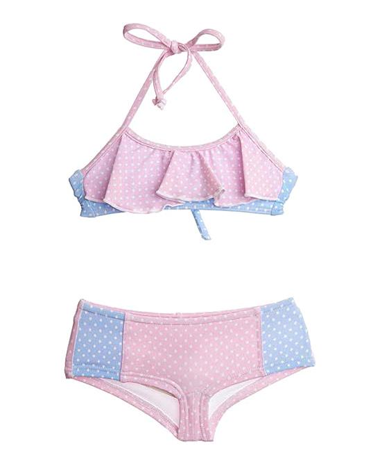 Pink Polka Dot Bikini 108