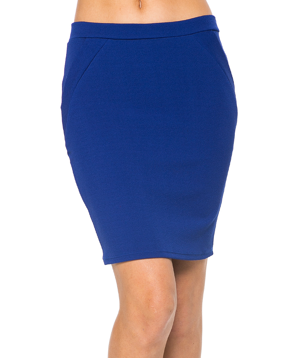 haute apparel royal blue pencil skirt zulily