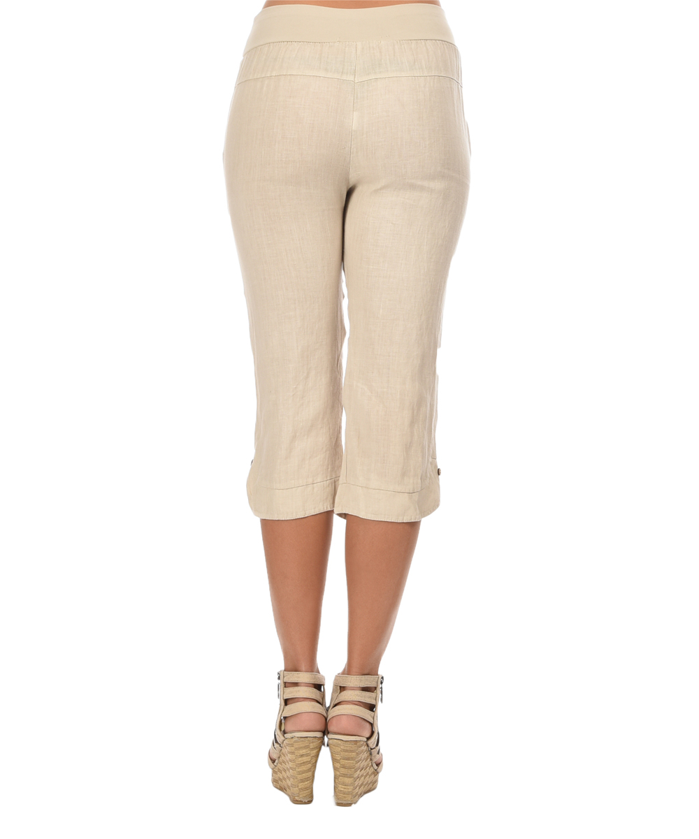 Couleur lin beige clelia linen pants zulily for Couleur lin clothing