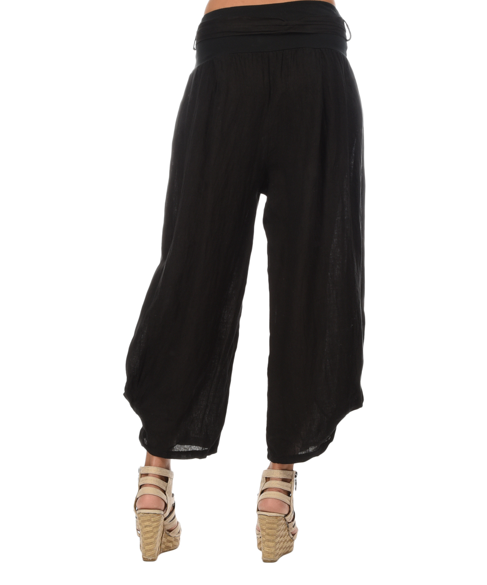Couleur lin black celeste linen pants zulily for Couleur lin clothing