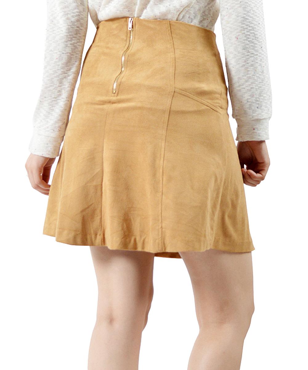 camel a line skirt