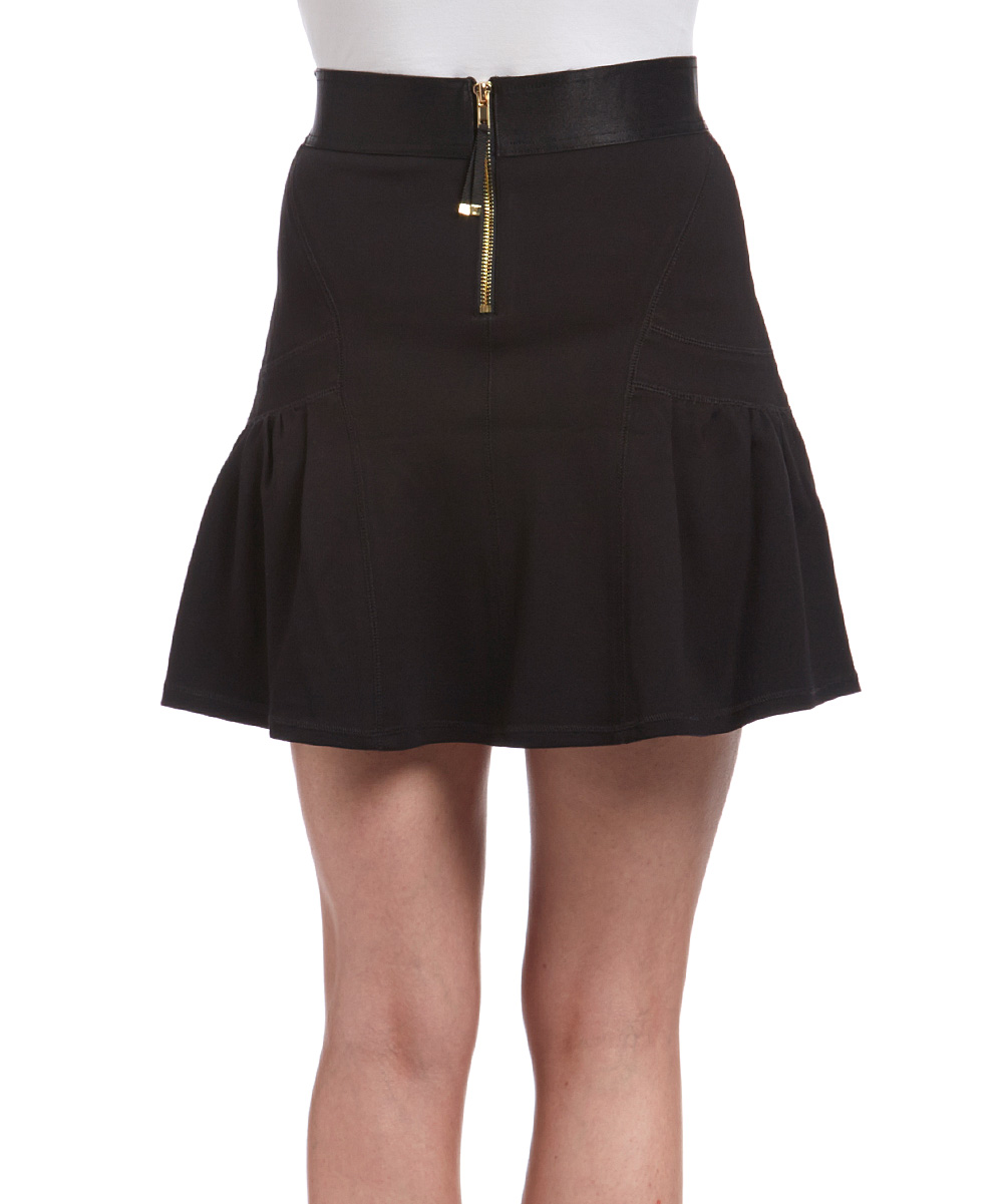 couture pitch black ponte a line skirt zulily