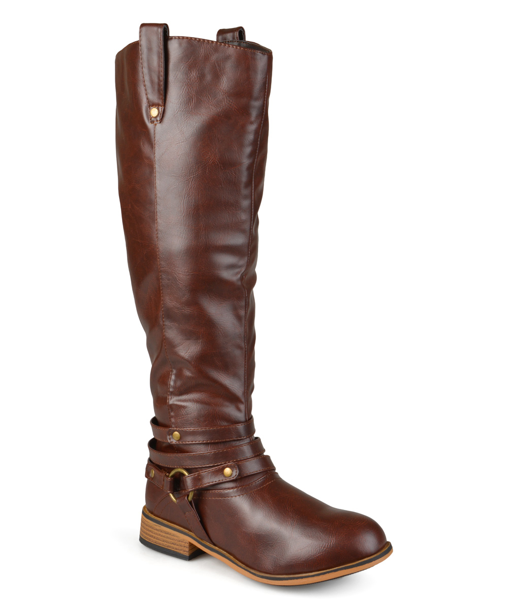 brown walla wide calf boot