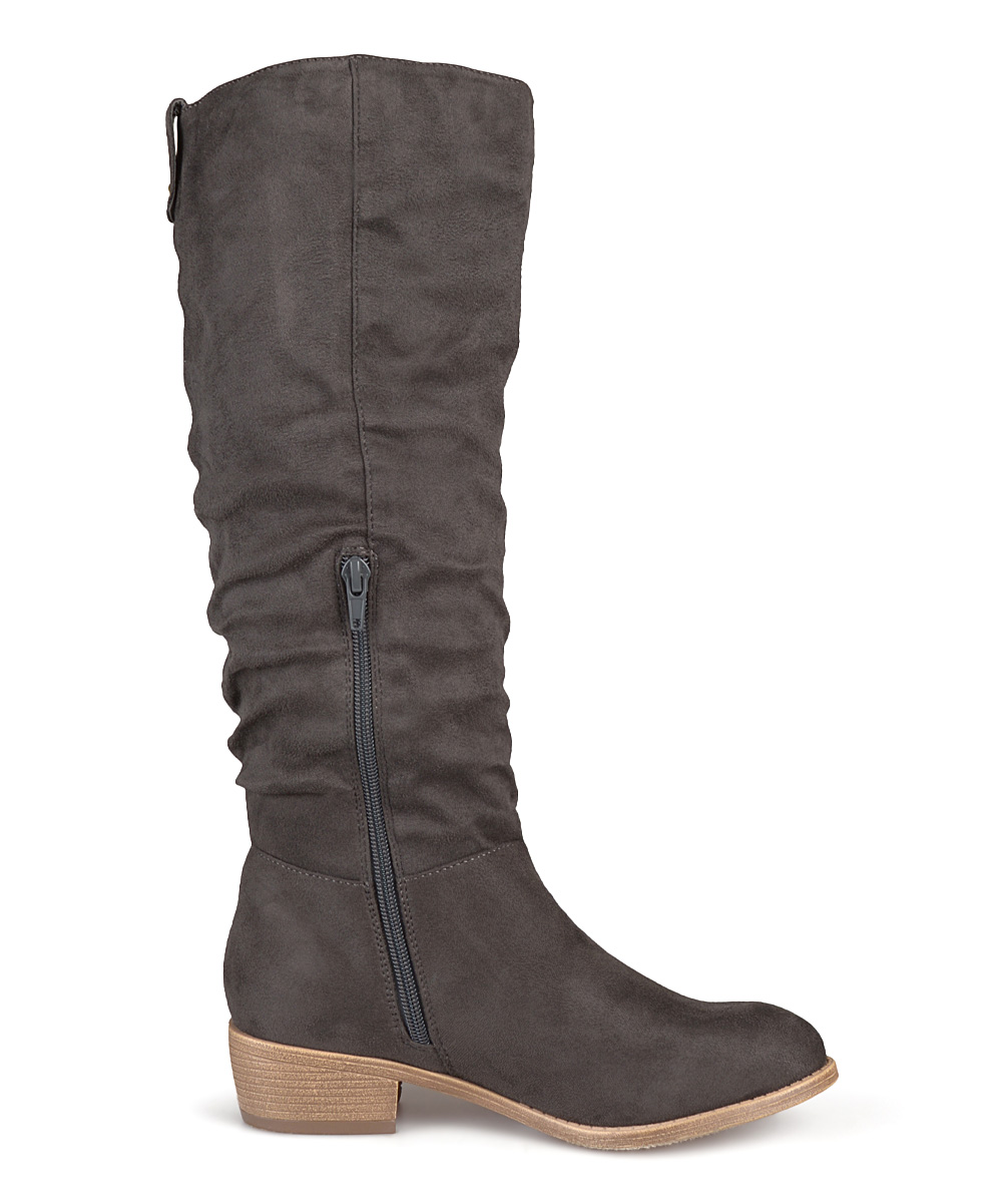 journee collection gray wide calf moon boot zulily