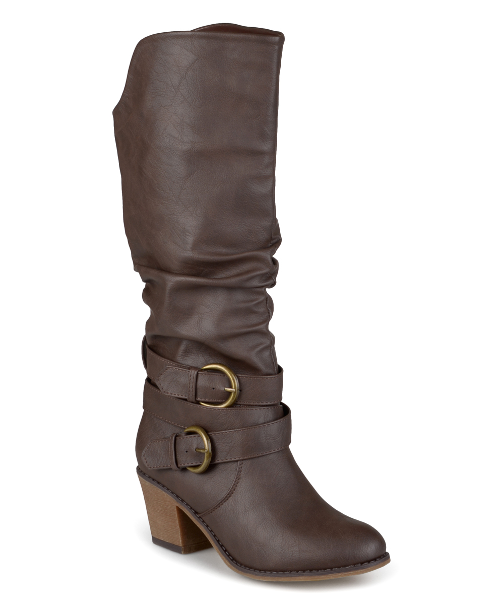journee collection brown late wide calf boot zulily