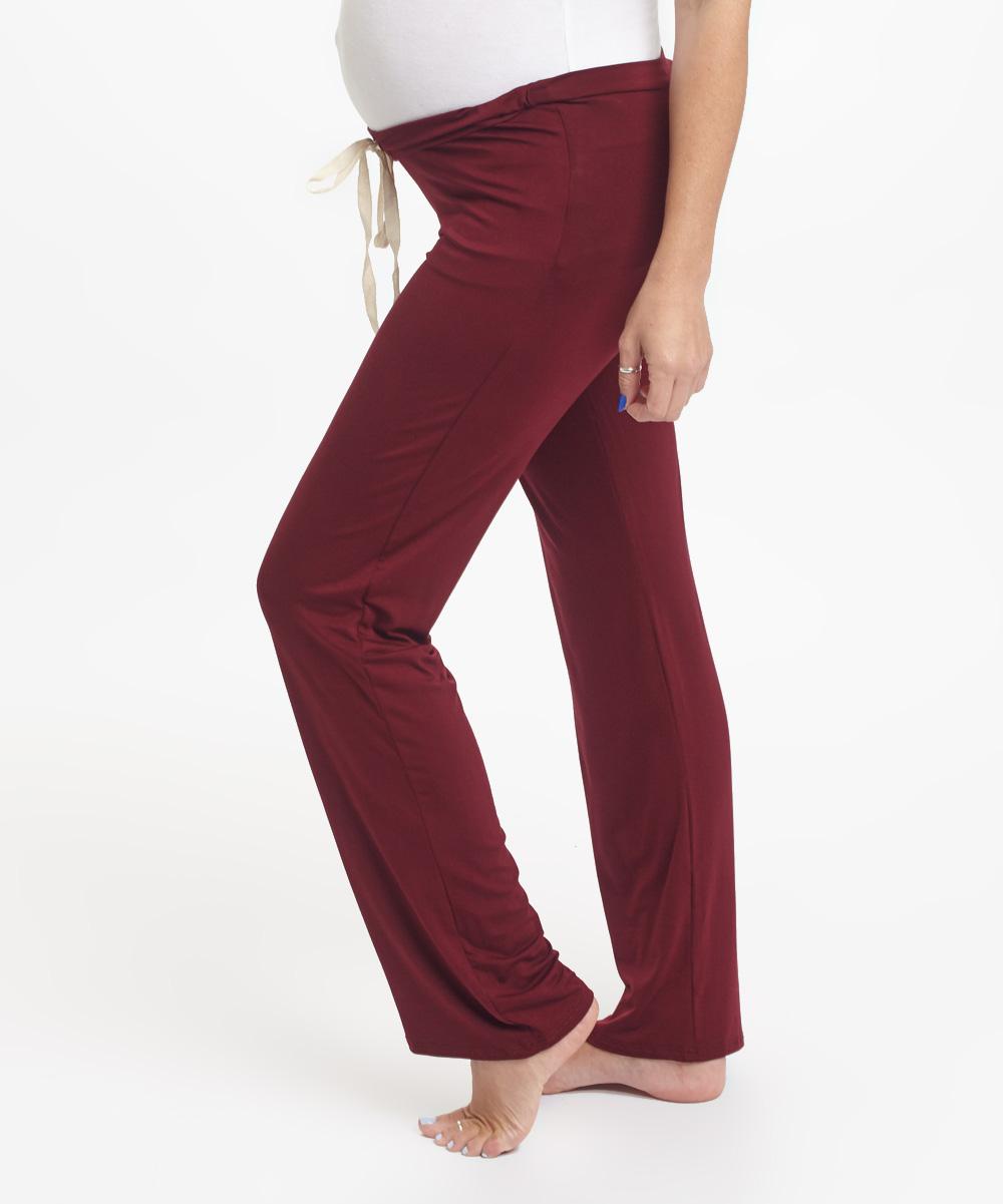 Popular  Pants  BurgundyWhite  Womens  Shopcade Style Scandal Amp Shopping