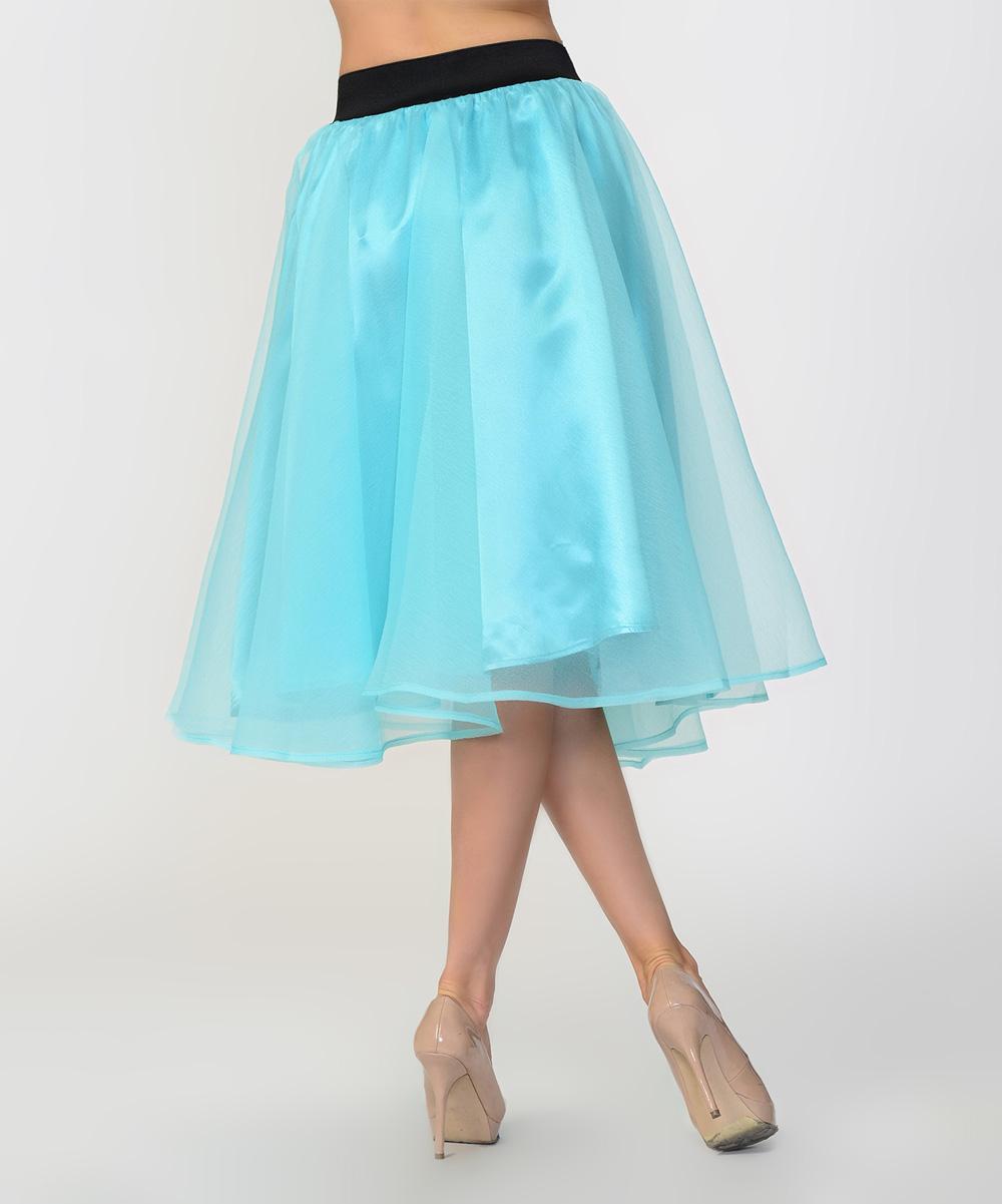 bellino light blue bow midi skirt zulily