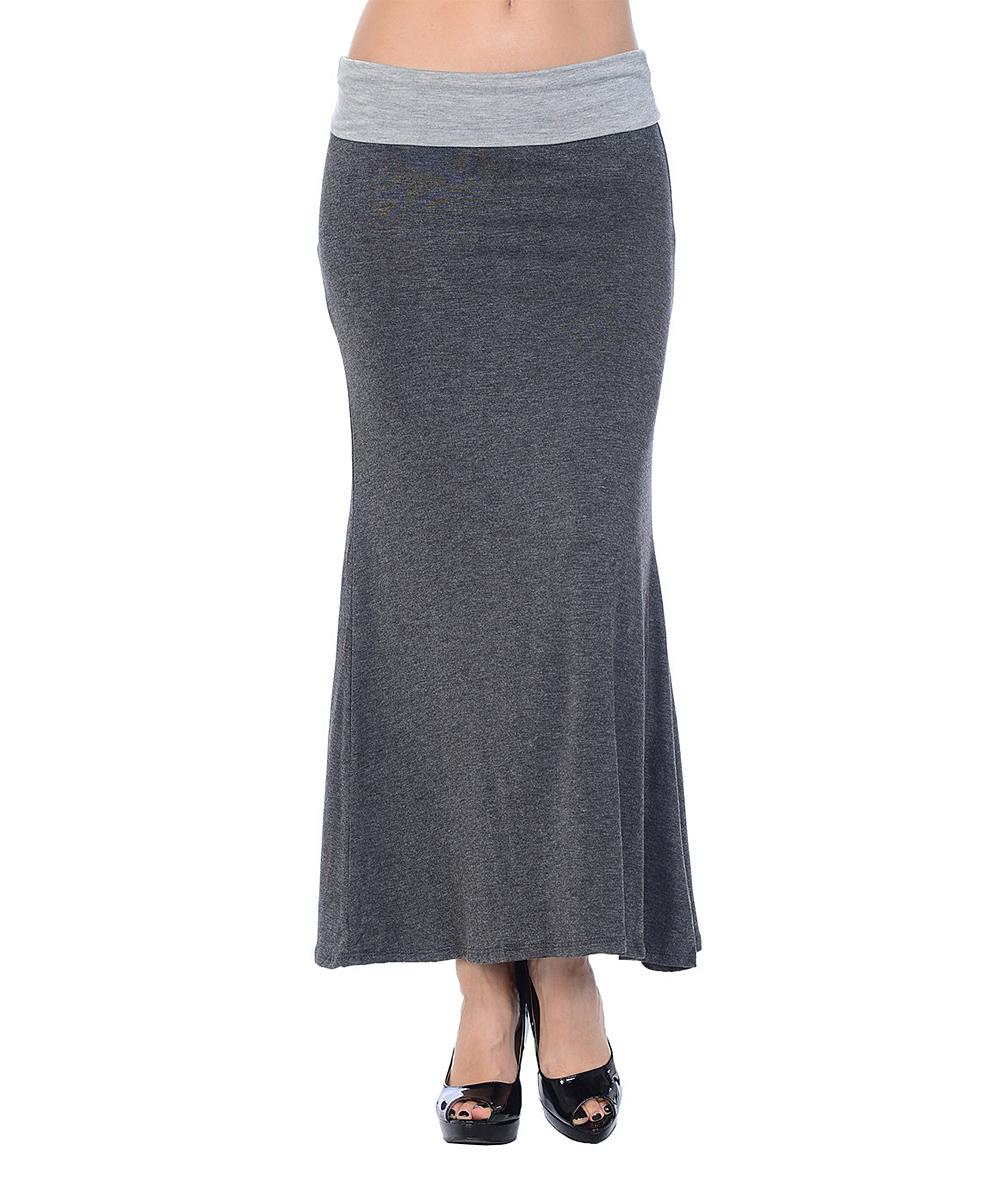 celeste charcoal gray maxi skirt zulily