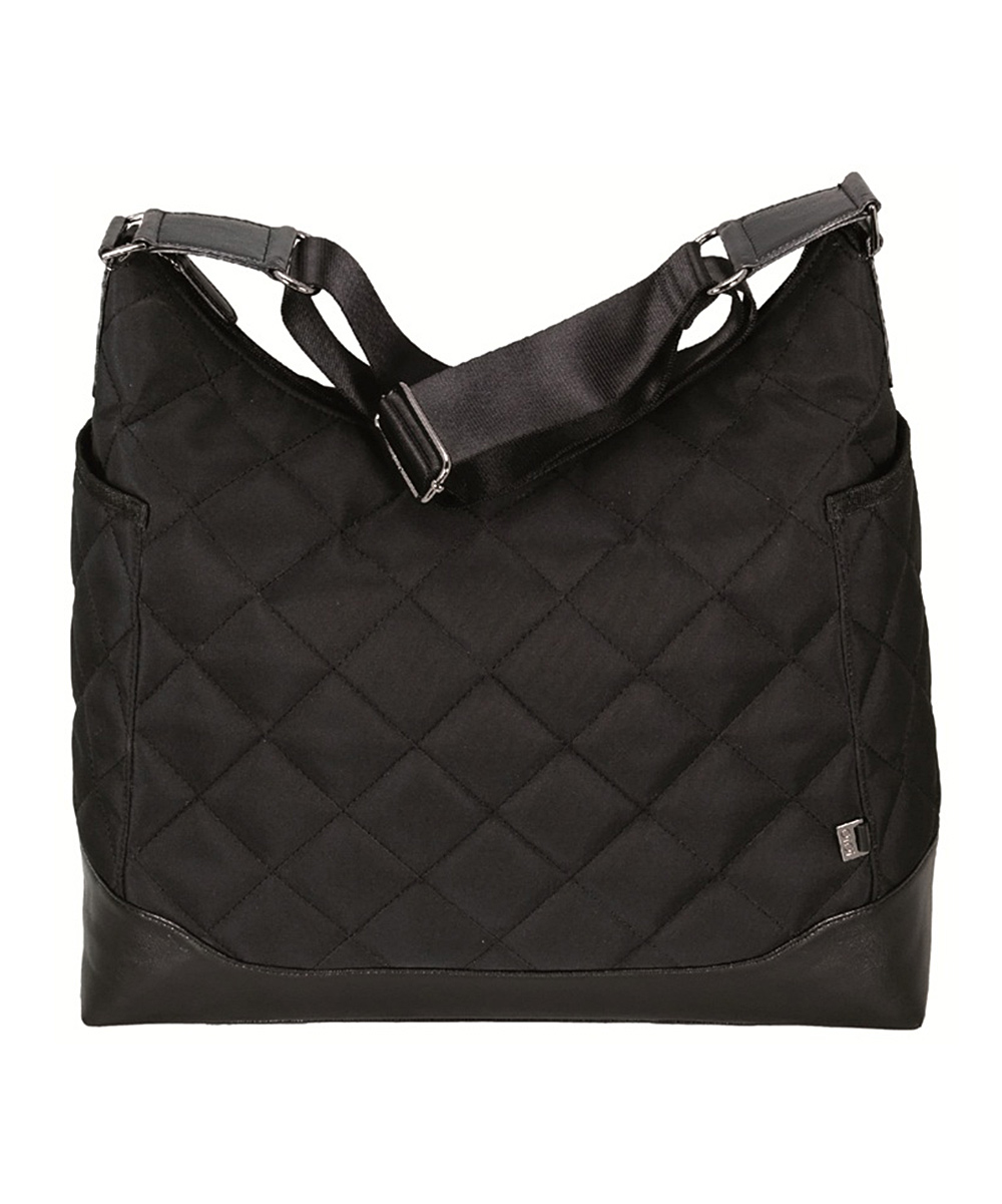 oioi black quilted diaper bag set zulily. Black Bedroom Furniture Sets. Home Design Ideas