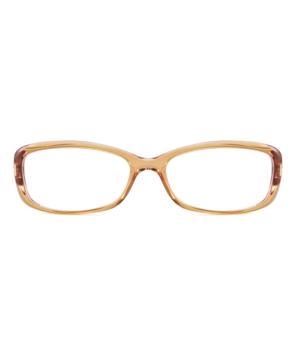 Eyeglass Frames Two Tone : Tom Ford Transparent Brown Two-Tone Eyeglasses zulily