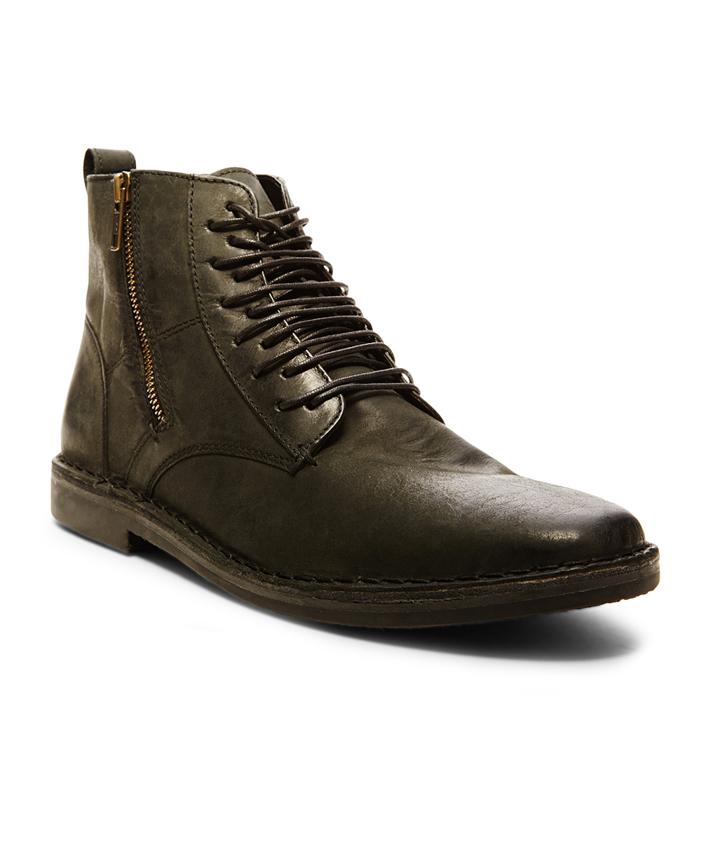 steve madden black harrisen leather combat boot zulily