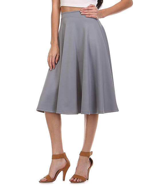 lara fashion gray a line skirt zulily