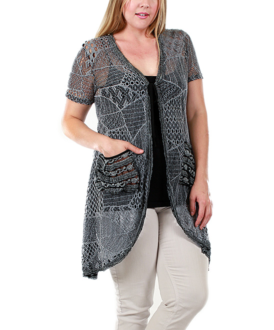 Black Crocheted Cardigan 35