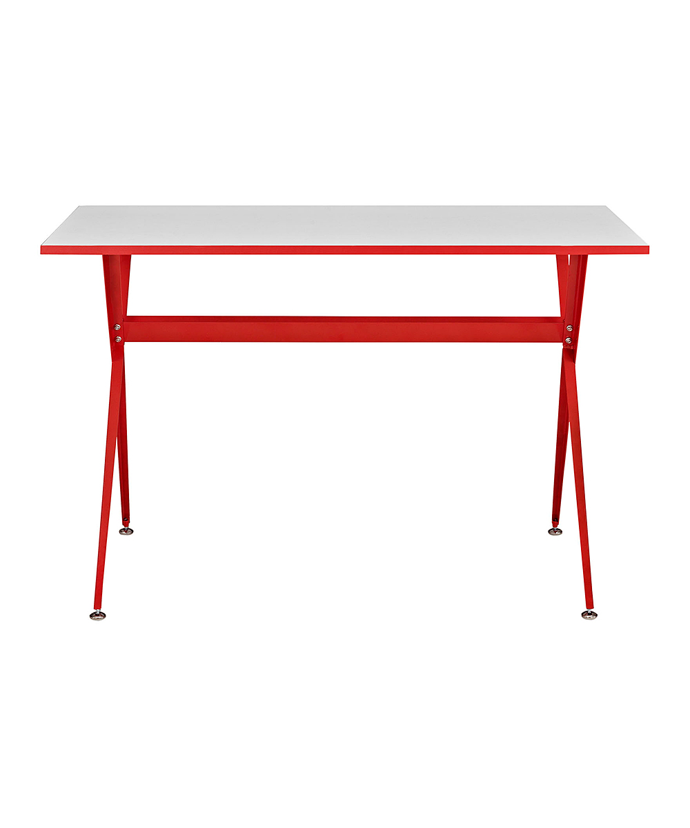Modway Red Metal Office Desk Zulily