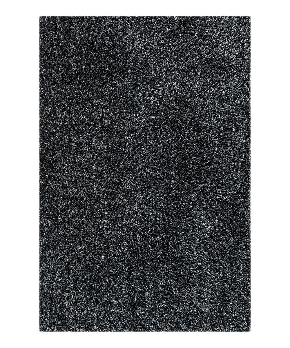 Black Slate Carrera Shag Rug Zulily
