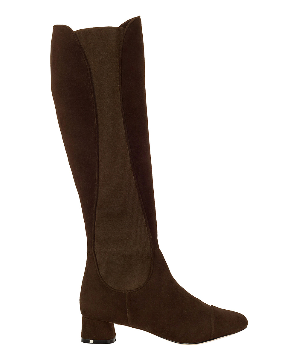max brown stretch kiva suede boot zulily