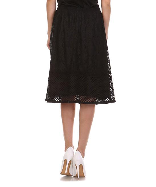 lara fashion black lace a line skirt zulily