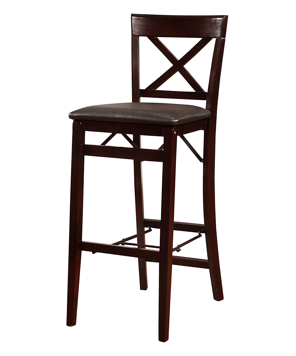 Linon Home Espresso Triena Folding Bar Stool zulily : zu27225462alt1tm1435616567 from zulily.com size 1000 x 1201 jpeg 69kB