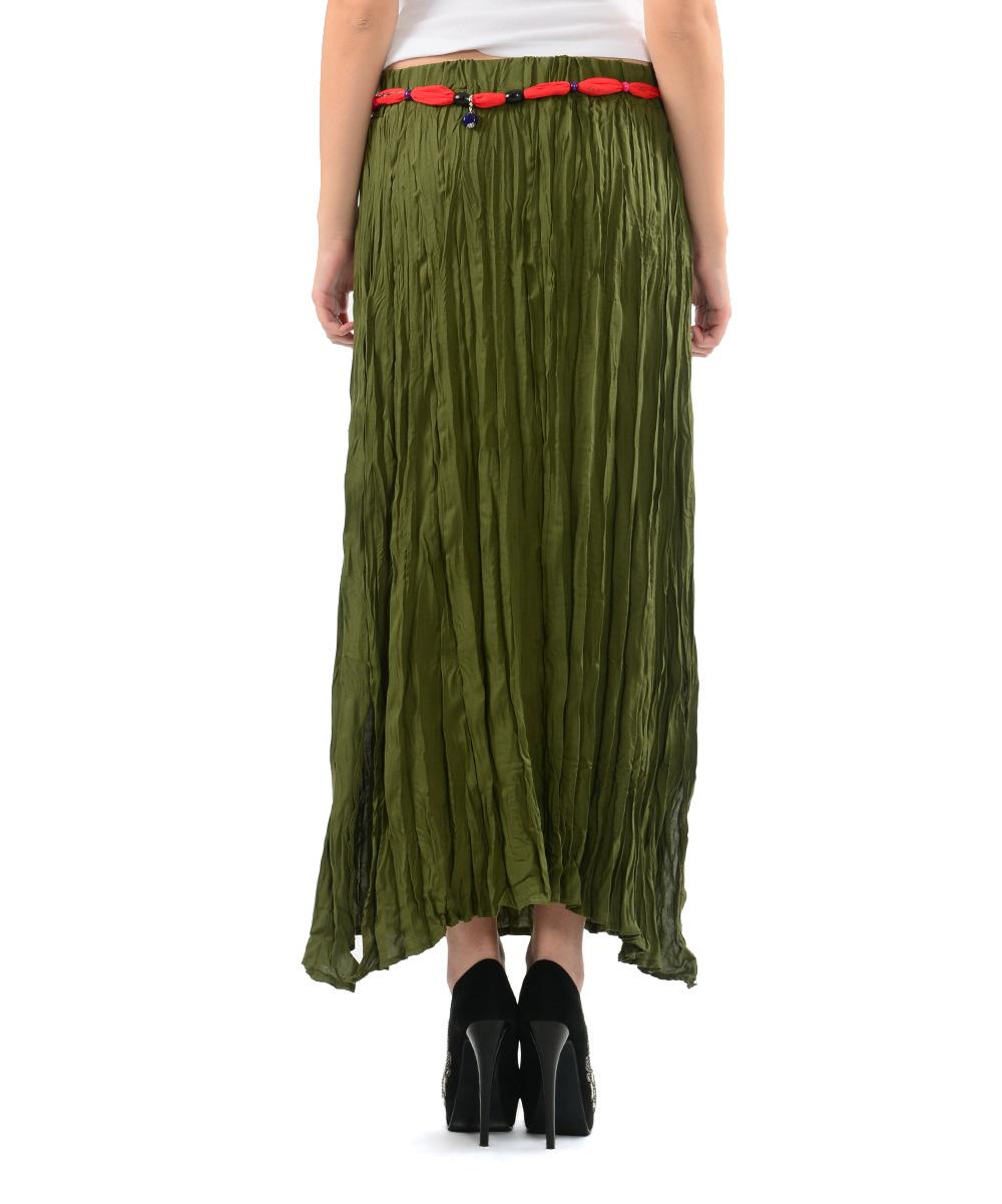 etnik esintiler khaki maxi skirt zulily