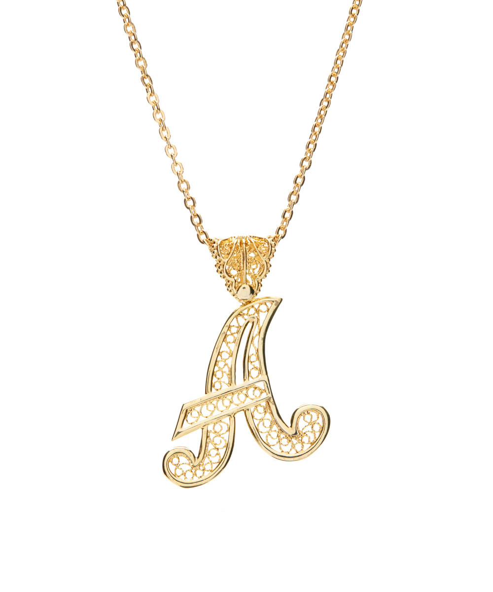 april venus gold filigree initial pendant necklace zulily