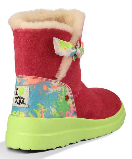 ugg 174 australia punch paint splatter i knotty suede