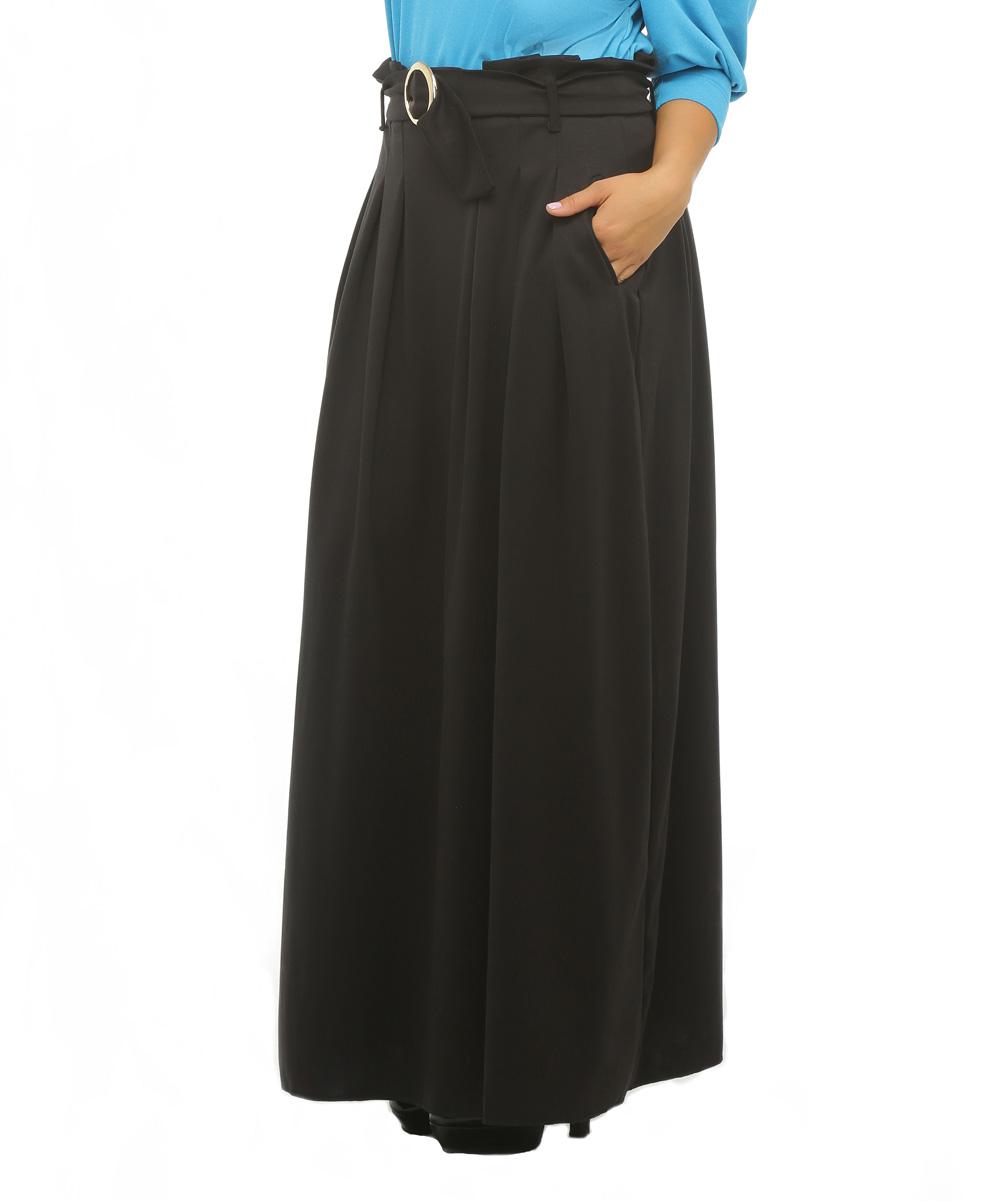 alpama black pleated maxi skirt zulily
