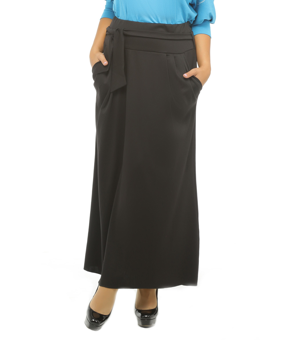 alpama black tie waist maxi skirt plus zulily