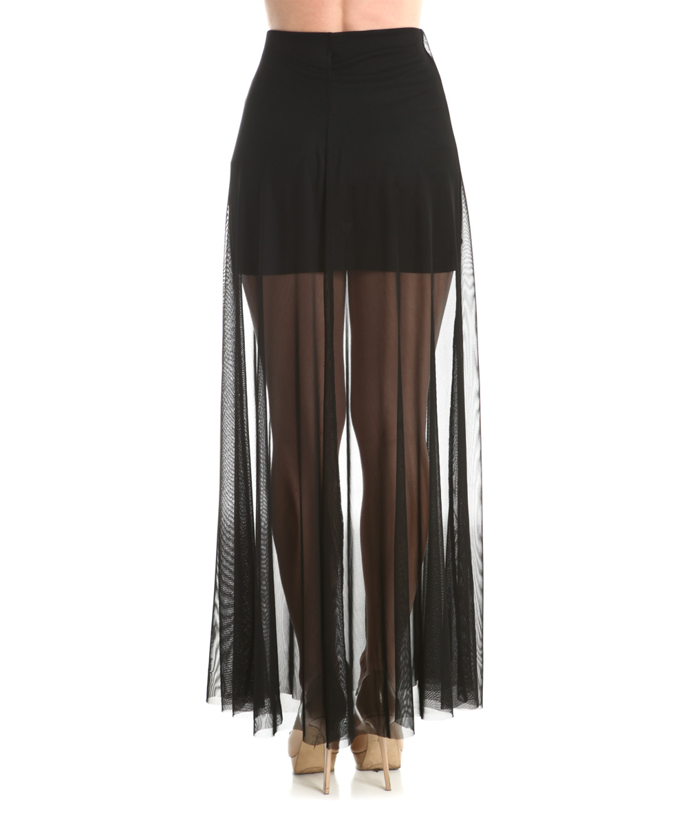 the bloom black sheer overlay maxi skirt zulily