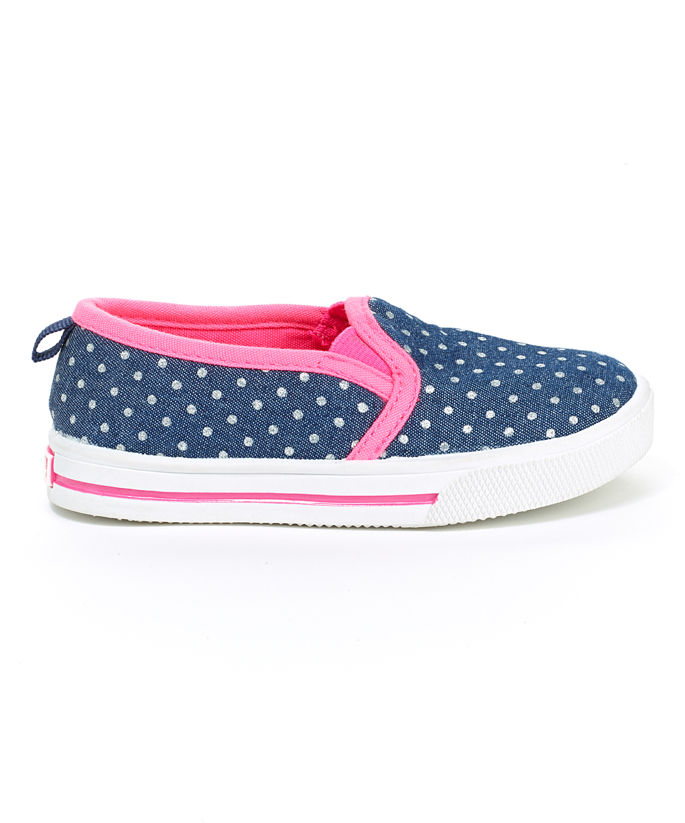 oshkosh bgosh blue pink slip on shoe zulily