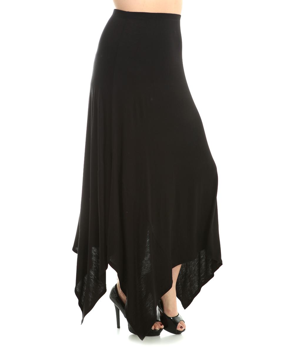 the bloom black handkerchief maxi skirt plus zulily