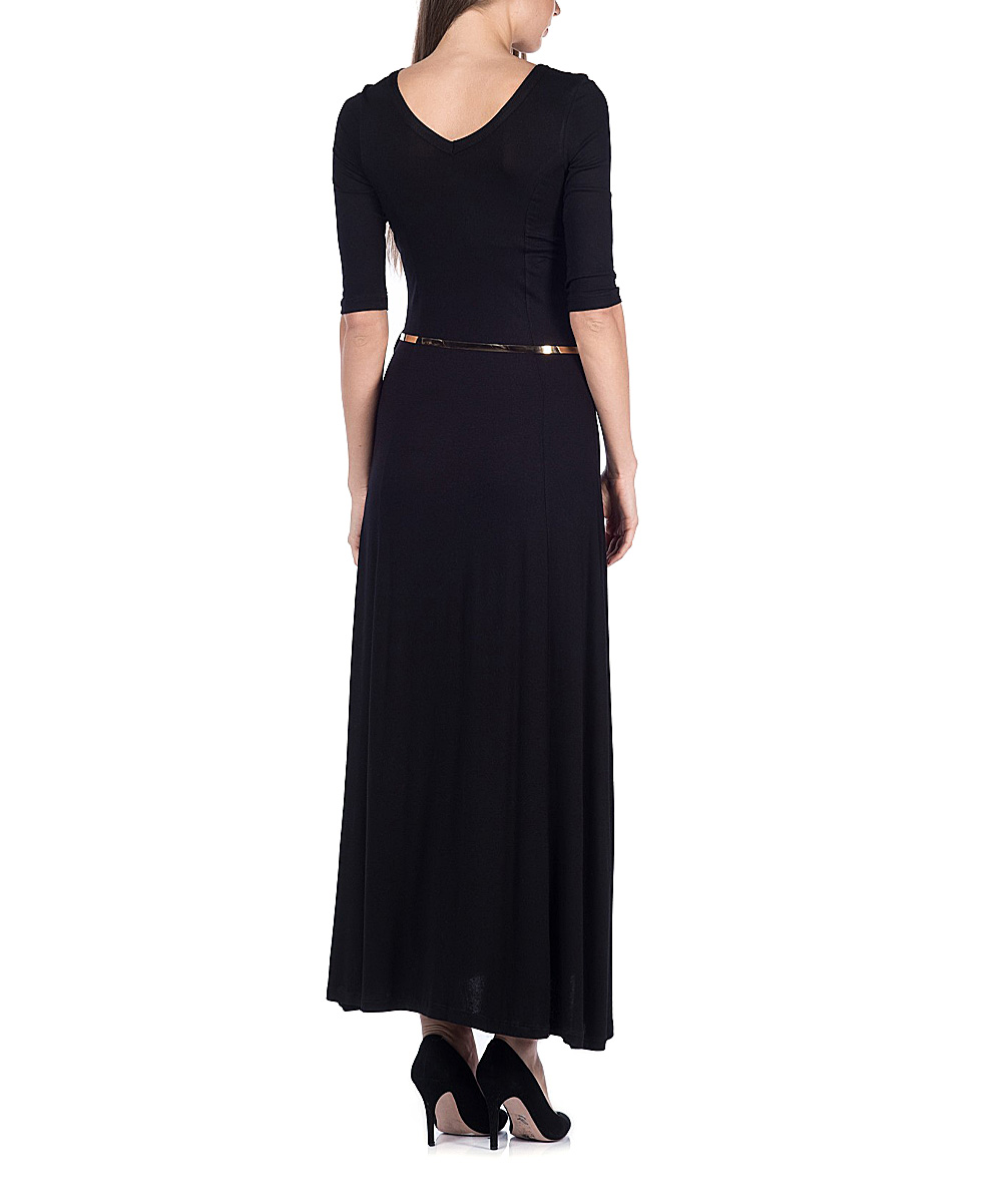 black belted maxi dress zulily
