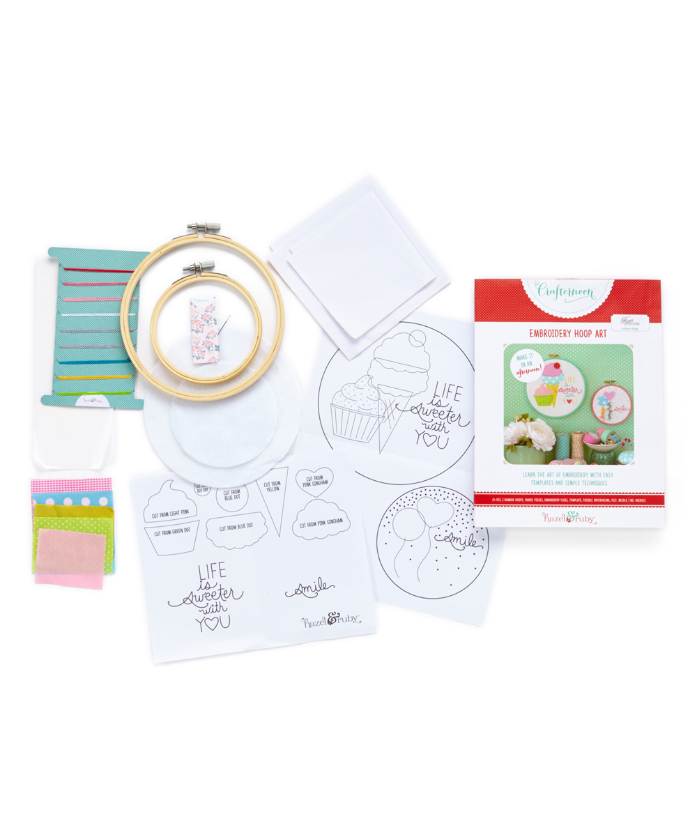 Crafternoon DIY Embroidery Hoop Art Kit  Zulily