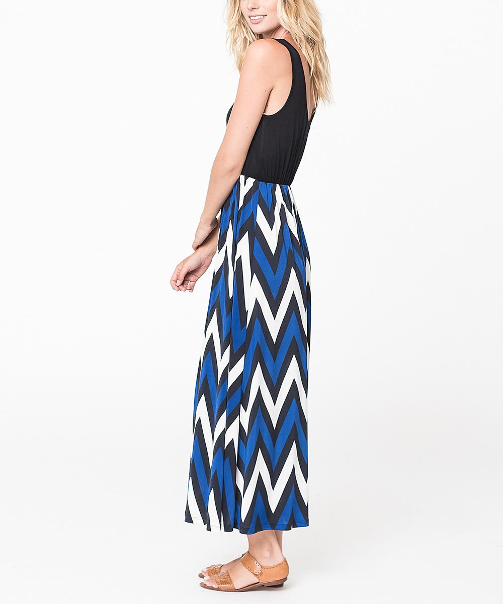 caralase blue chevron maxi skirt zulily