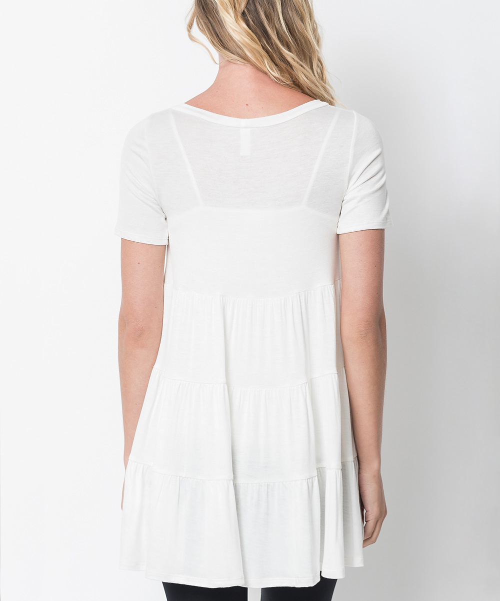 Luxe Ivory Tiered Tunic - Women   zulily