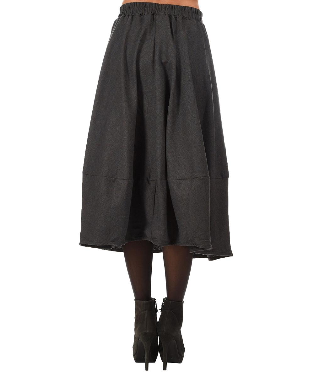 blue gray a line skirt zulily