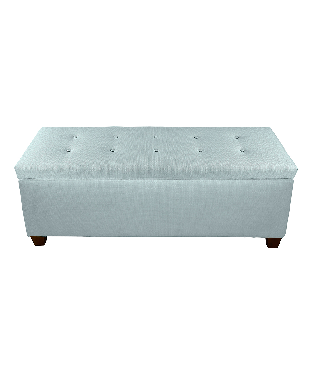The Sole Secret Sea Mist Green Button Tufted Shoe Storage Bench Zulily