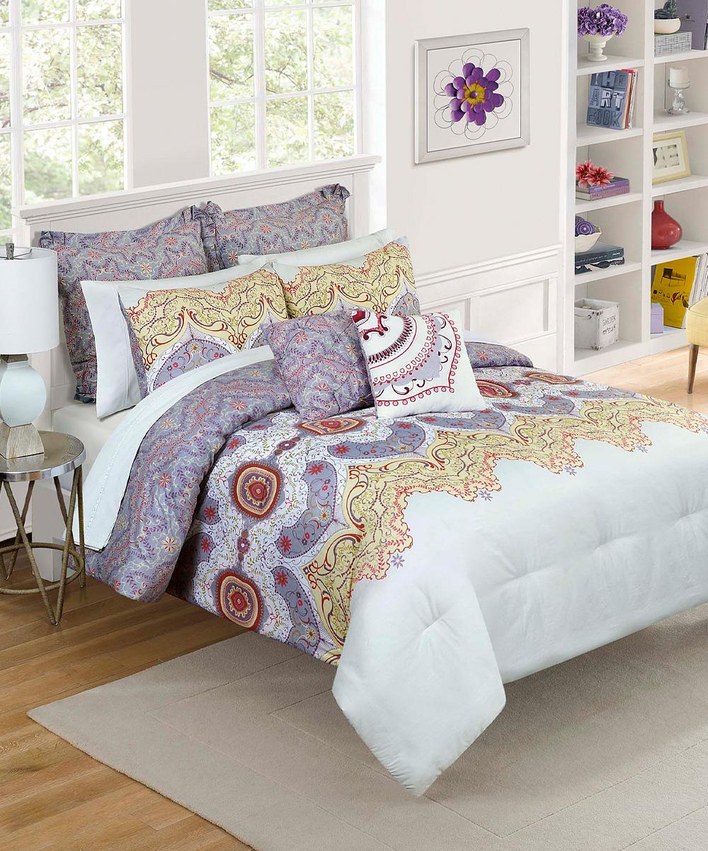 plum cordova comforter set zulily