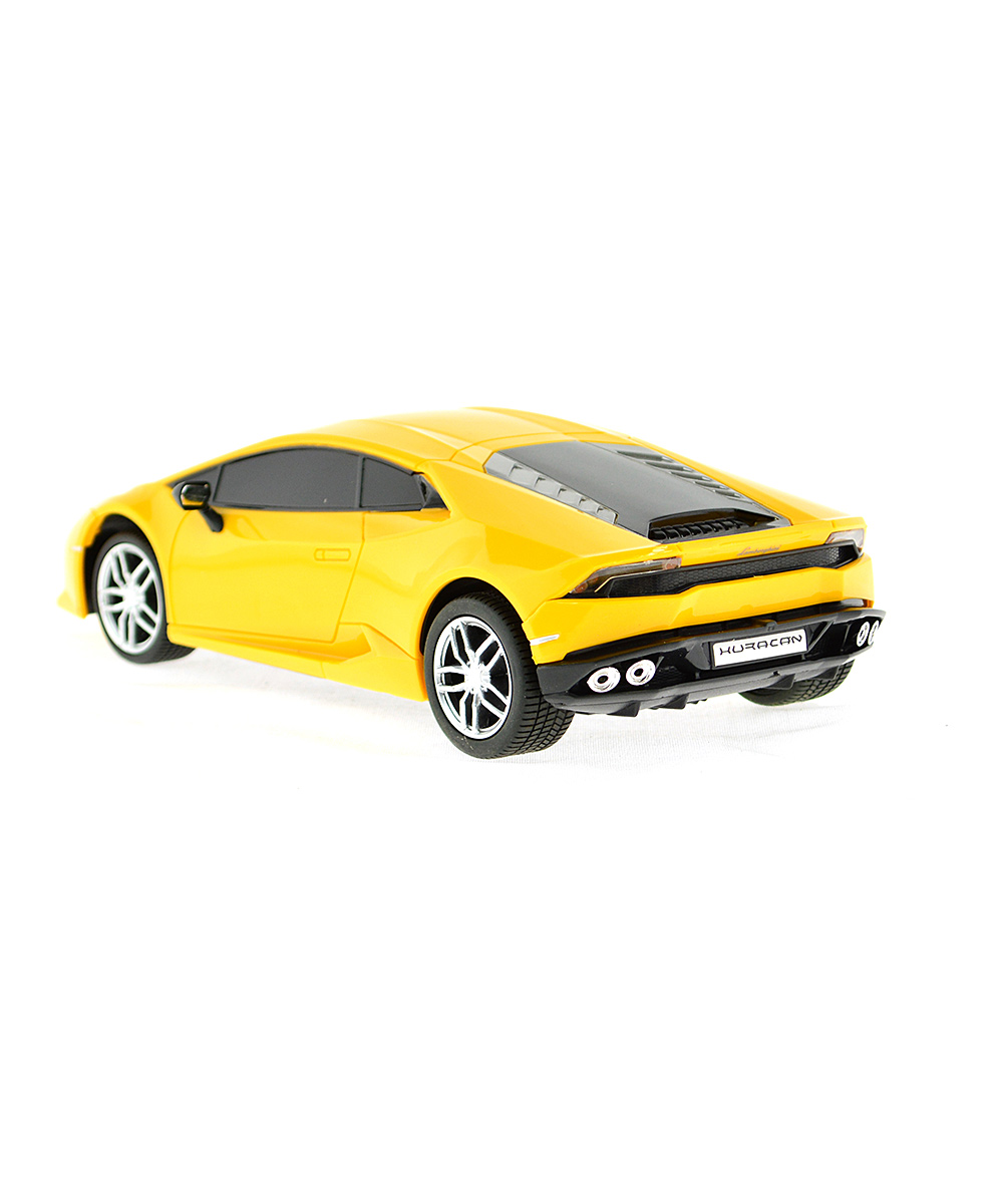 mach 10 yellow 1 24 remote control lamborghini huracan lp610 4 zulily. Black Bedroom Furniture Sets. Home Design Ideas
