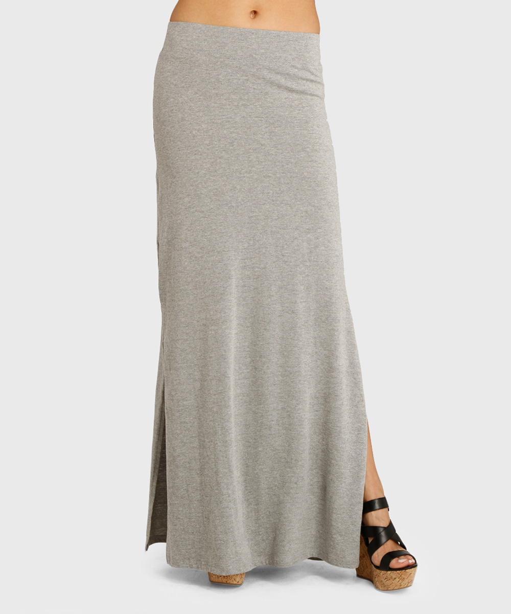 threads 4 thought gray cinema maxi skirt zulily