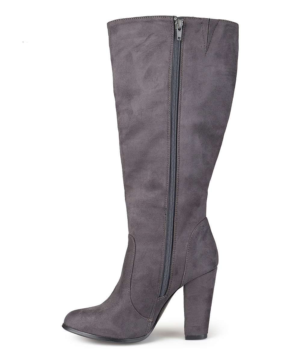 journee collection gray tracks wide calf boot zulily